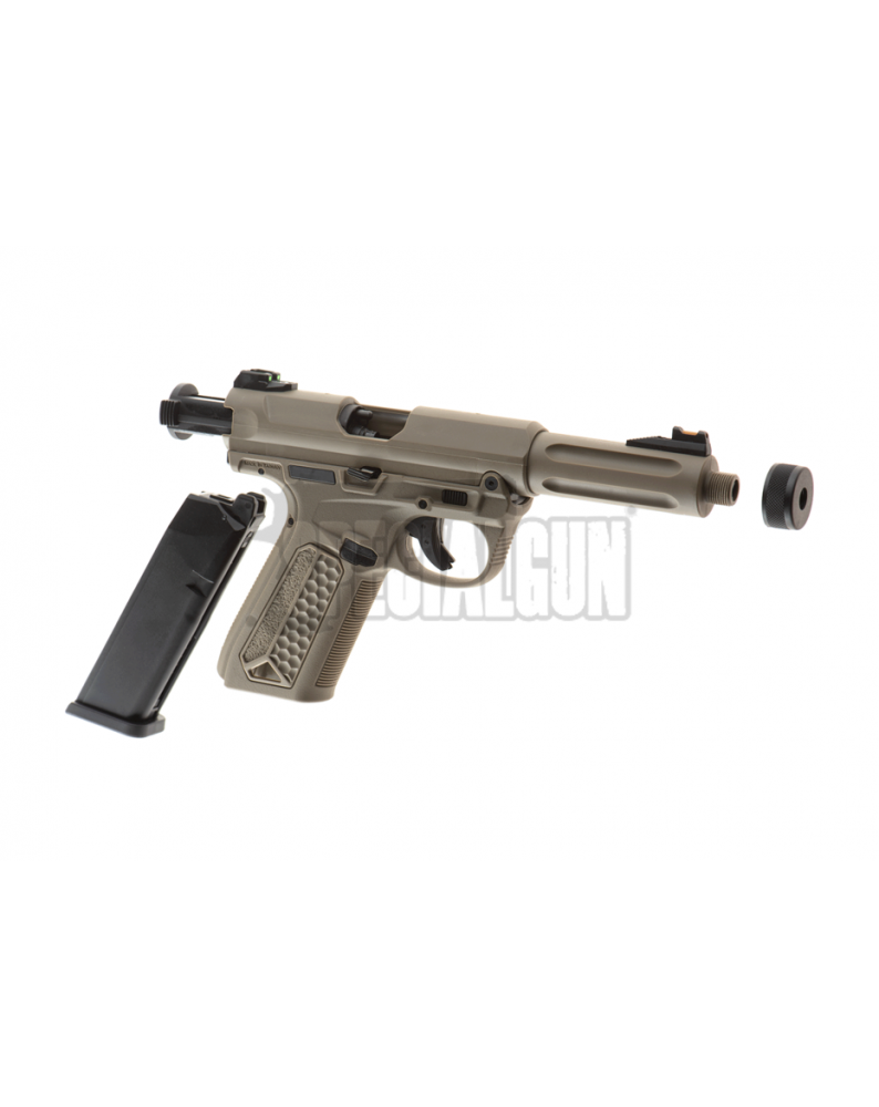 PISTOLA GAS AAP01 ASSASSIN GBB SEMI-FULL AUTO ACTION ARMY FDE - Home -  - 30260