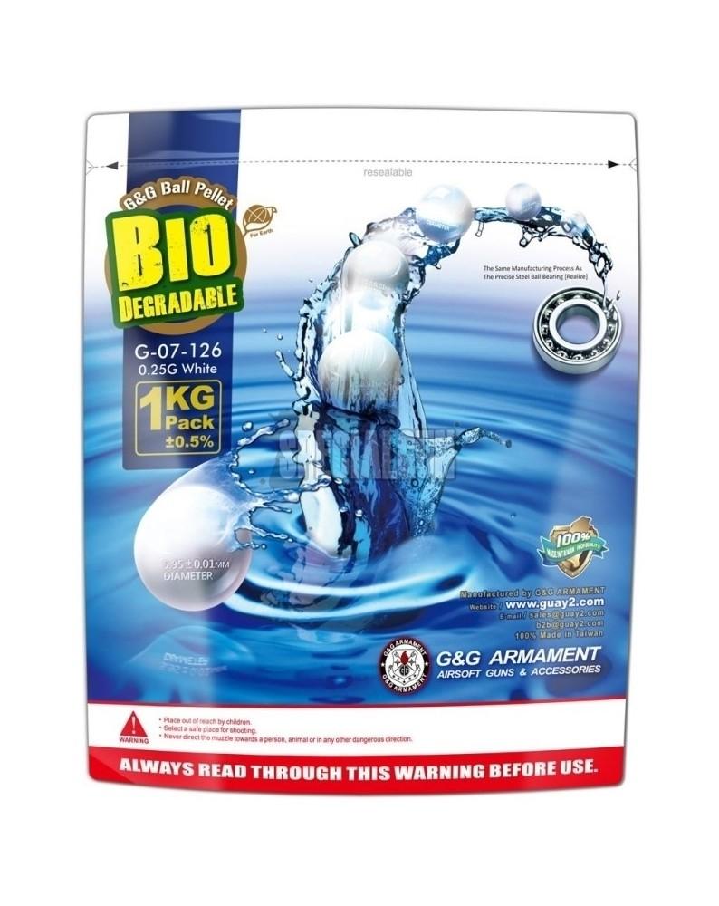 PALLINI BIODEGRADABLE 0.25 gr: BUSTA DA 1kg G&G BIANCHI