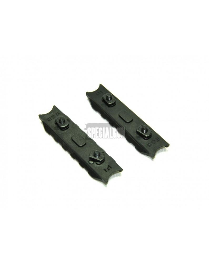 2 pz SLITTE M-LOK  5 SLOT METALLO G&G - SLITTE - MOUNT -  - G-03-197