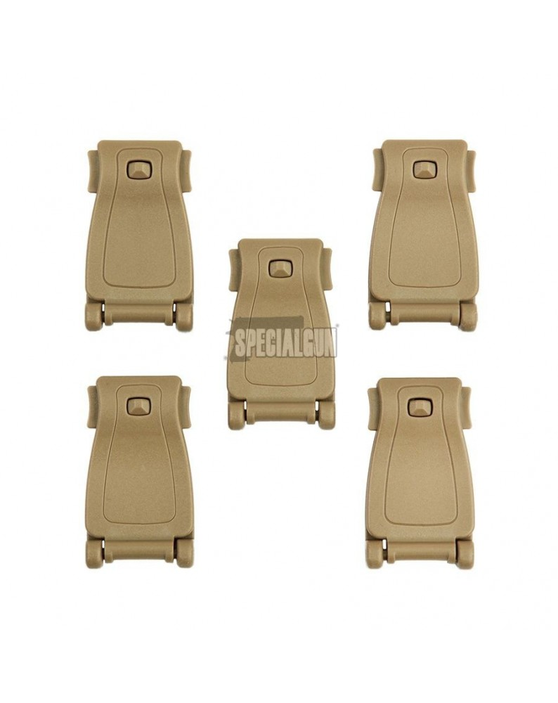 MOLLE CLIP WEBBING IN ABS 5 pz 101INC TAN