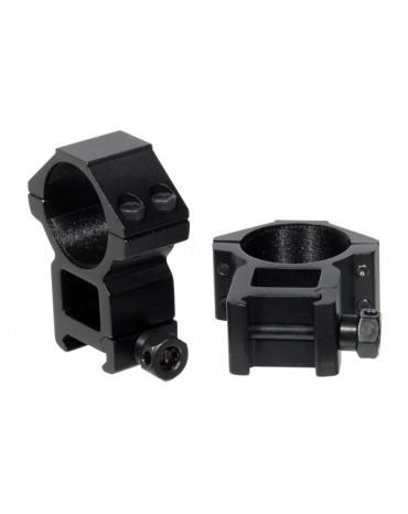 ANELLI ALTI OTTICA 30MM PER SLITTA 20mm WEAVER (2PZ)