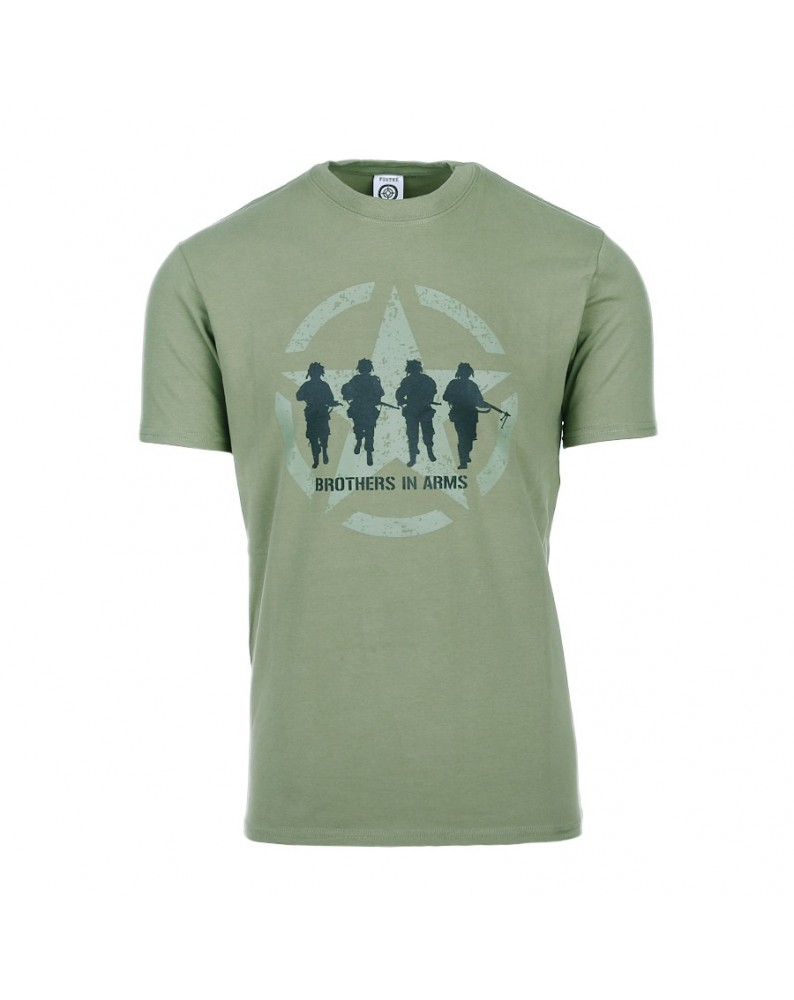 T-SHIRT MILITARE BROTHERS IN ARMS VERDE FOSTEX